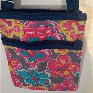 Simply southern crossbody nylon floral bag